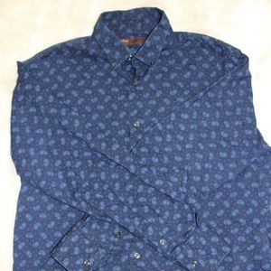 Perry Ellis Paisley Button Up